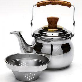 Заварочный чайник с металлическим фильтром Mayer & Boch (Германия), нержавеющая сталь - 1